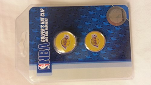 NBA Los Angeles Lakers Clamshell Hat Clip with 2 (College Golf Cap Hat Clip)