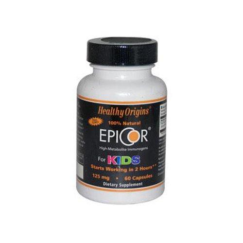 Healthy Origins Epicor For Kids   125 Mg   High Metabolite Immunogens   Natural   Non Gmo   60 Capsules  Pack Of 2