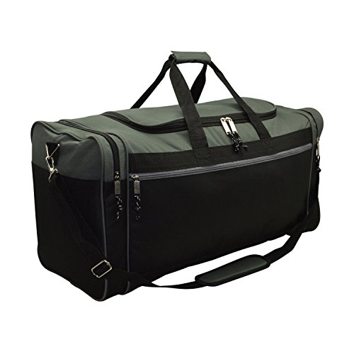 DALIX 25' Extra Large Vacation Travel Duffle Bag in Gray and Black