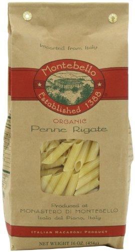 Montebello Organic Penne Rigate, 16 Ounce, 5 Count ()