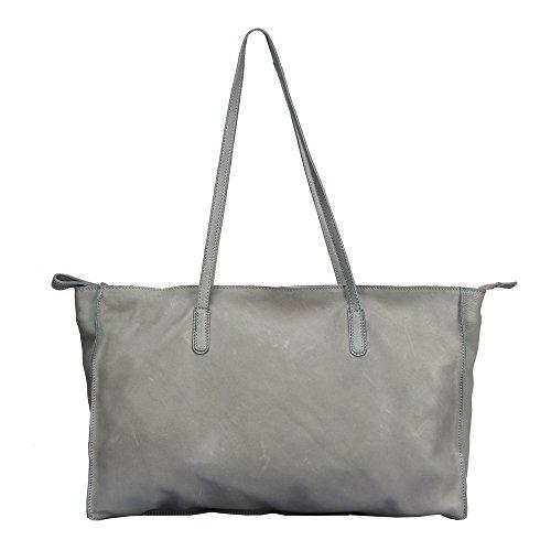 """Vilenca """"40720 Grigio"""" Signore borsa a tracolla, borsa di cuoio per le donne, Dimensioni- L44cmxH27.5cmxW9.5cm �?"""