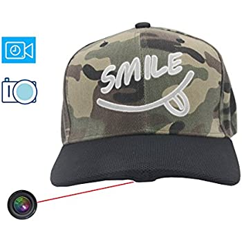 e650a0034fc ViView Video Camera Hat Cap Recording Wide Angle HD 1920x1080P Video Photo  and Audio (16GB SD Card Included) - Fun for Outdoor Sports Shooting Hiking  ...