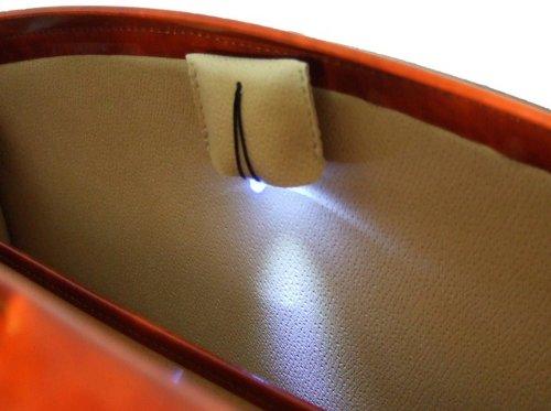 Pratesi de piel, bolso de piel Para Hombre Brunelleschi gran maletín para ordenador portátil en piel de vaca–Radica Verde Verde