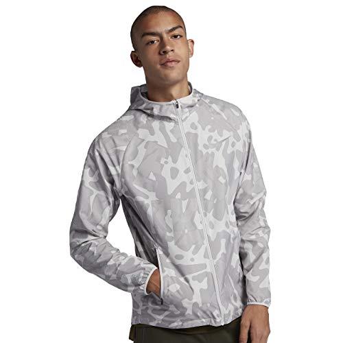 - Nike Essential GX Men's Running Jacket (Atmosphere Grey/Vast Grey/Flash, Large)