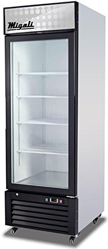 Migali C-23FM Competitor Series Freezer Merchandiser, 27'' W, 23.0 cu. ft. Capacity, 1 Hinged Glass Door, White Sides/White Interior/Black Front by Migali