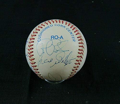 Bernie Williams Danny Tartabull +7 Signed Auto Autograph Rawlings Baseball B107 - Autographed Baseballs -