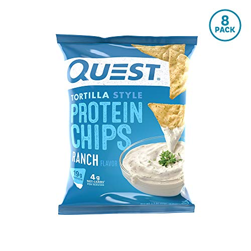 Quest Nutrition Tortilla Style Protein Chips, Ranch, Low Carb, Gluten Free, Soy Free, Baked, 8 Count - Ingredients Cheese Pizza