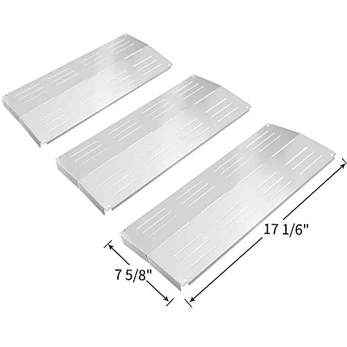 Grand Hall - SHINESTAR Grill Replacement Parts for Grand Hall Y0202XCLP, Y0101XC, Charbroil 463231603, Members Mark 608SB, Y0660, Bakers and Chefs, 3 Packs-Stainless Steel Heat Shields Plate Tent BBQ Flame Tamers
