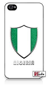 The Best Nigeria Flag Badge Direct UV Printed (not a sticker) iphone 4s Quality Hard Snap On Case for iphone 4s - AT&T Sprint Verizon - White Case