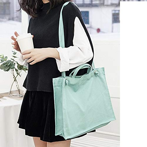 HITSAN INCORPORATION Minimalist Brand Solid Colors Crossbody Bags for Women  Canvas Literary Lady Shoulder Bag Simple Thread Book Bags Mori Girl Color  Lake ... e3a7d90128959