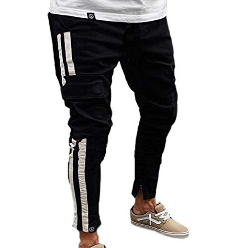 Ajuste los Delgado S Pantalones Hombres los Cintas Camuflaje lápiz de Pantalones de Estilo Vaqueros Mezclilla 3XL Americana elásticos Cremallera Moda Pantalones de con Pantalones elásticos de qZSO0