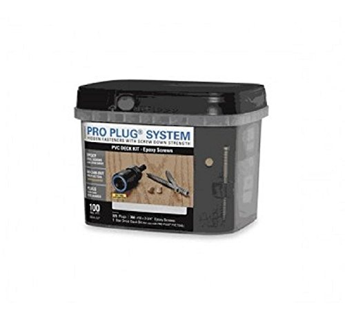 - Starborn Pro Plug System Pvc Deck Kit, Epoxy Coated Steel