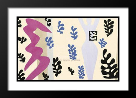 Henri Matisse Framed and Double Matted Art Print 20x23