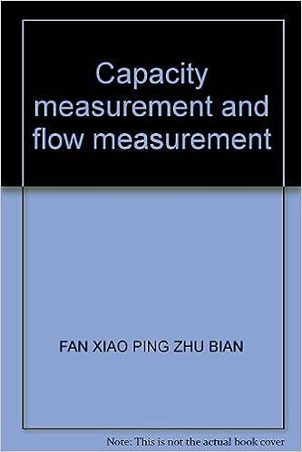 Book Capacity measurement and flow measurement