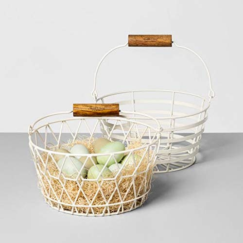 Hearth and Hand with Magnolia Wire Basket with Wood Handle