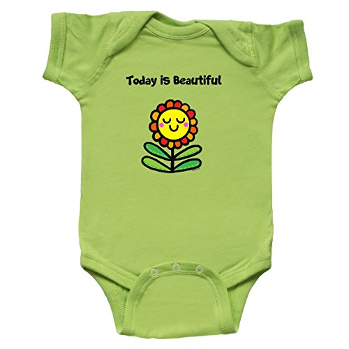 Inktastic - Today is Beautiful Infant Creeper 6 Months Key Lime - Flossy And Jim