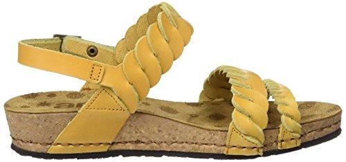 ART 0733 Mojave Pompei, Sandalias con Plataforma para Mujer Amarillo (Sun)