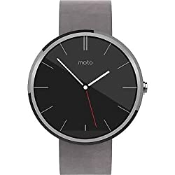 Moto 360 Smart Watch for Android Devices 4.3 or Higher Stone Leather