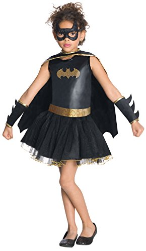 Bad Guy Superhero Costumes (Justice League Child's Batgirl Tutu Dress - Medium)