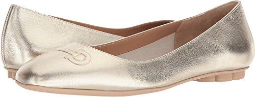 Salvatore Ferragamo Women's Broni Flats, Sahara/Platino, 7.5 B(M) (Ferragamo Womens Shoes)