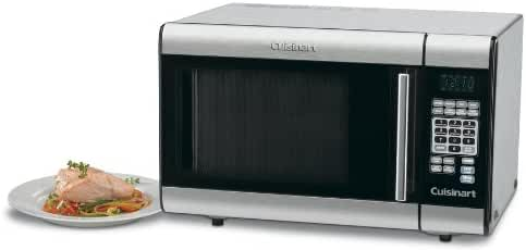 Cuisinart 1000 Watt 1.0 Cubic Ft Microwave Oven with Stainless Steel Interior, Touchpad Controls with LCD Digital Display and Two Defrost Functions with 8 Preset Cooking Options w/Serving-Size Options (Total 25), and Two Stage Cooking Operation