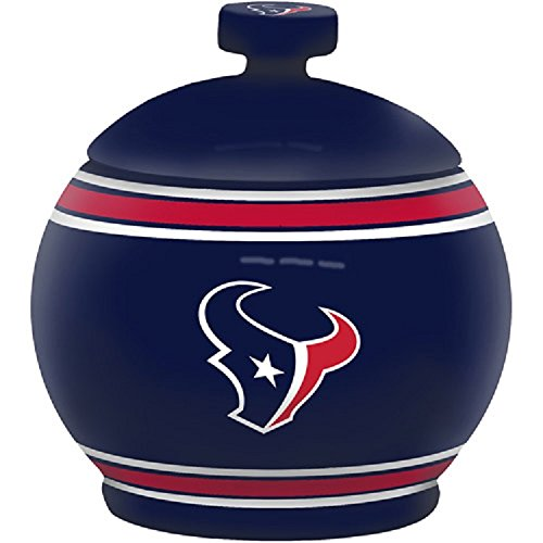 NFL Houston Texans Sculpted Game Time Jar, 12-ounce, Blue (Nfl Candy Jar)