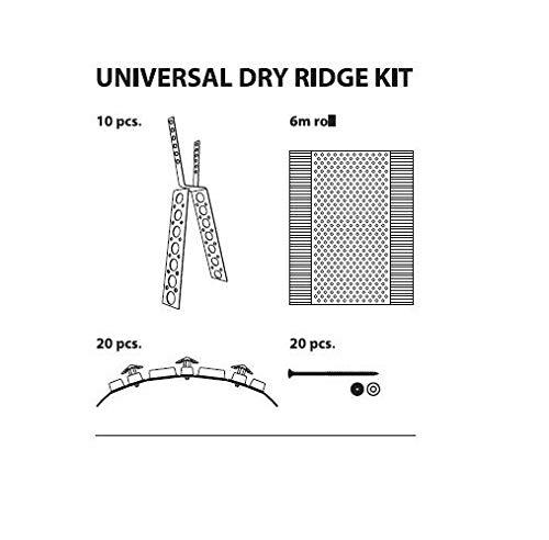 for Clay and Concrete RIDGES WONDERRIDGE Universal Dry Ridge KIT 6 Meter