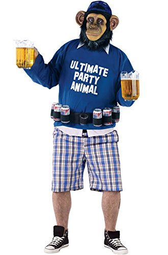 [Ultimate Party Animal Funny Plus Size Costume] (Ultimate Party Animal Halloween Costume)