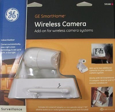 GE SmartHome Wireless Camera GESECWBWIN