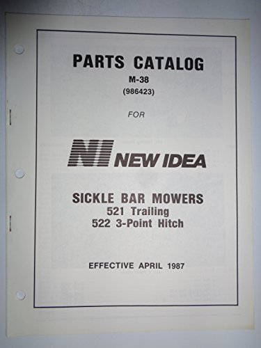 New Idea 521 Trailing and 522 3-Point Hitch Sickle Bar Mower Parts Manual Catalog 4/87