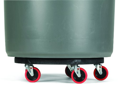 Rubbermaid Commercial FG264043 HDPE Brute Quiet Dolly for Container, 250 lbs Capacity, 18.25'' Diameter x 6.63'' Height, Black by Rubbermaid Commercial Products (Image #4)