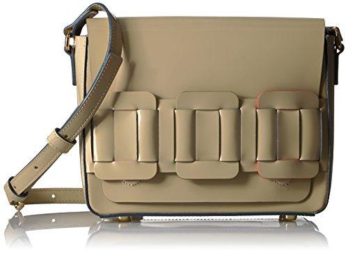 Orla Kiely Glass Leather Linked Mini Ivy Bag, Cream by Orla Kiely