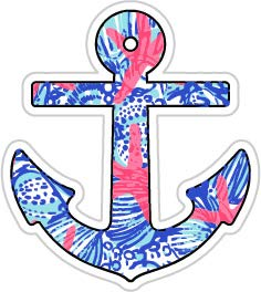 Lilly Starfish Anchor (Size W8.2 x H9.2 Centimeter) Car Motorcycle Bicycle Skateboard Laptop Luggage Vinyl Sticker Graffiti Decal Bumper Sticker
