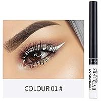 Lápiz delineador líquido, 12 colores a prueba de agua, cosméticos para ojos mate, delineador de ojos, duradero, atractivo y encantador, delineador