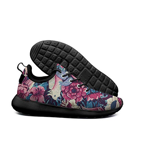 Lightweight Psychedelic Sole Running Opr7 Sole Shoes Sneaker Trippy Plams Rubber Tropical Parrot Women Rainbow Soft For 5vgqntqx
