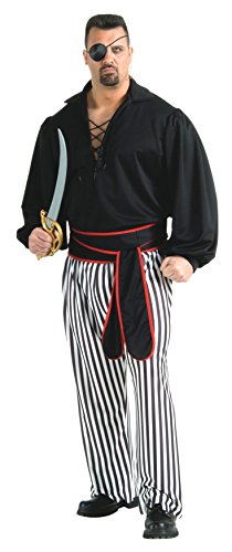 (Rubie's Men's Buccaneer, Plus Size Costume, As Shown, One)