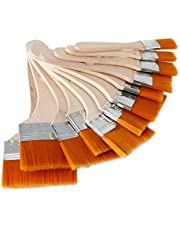 EORTA Set of 12 Art Paint Brushes Assorted Sized Nylon Painting Brushes with Wooden Handles for Acrylic, Oil, Paint, Varnishes, Watercolor, Painter, Students, Artist