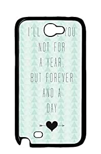 Mldierom fashion picture hard shell black case for Galaxy Note 2 infinite love