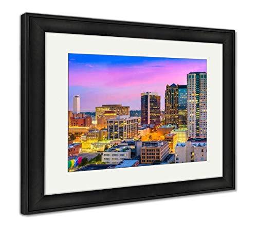 (Ashley Framed Prints Birmingham, Alabama Skyliune, Wall Art Home Decoration, Color, 34x40 (Frame Size), Black Frame, AG32675279)