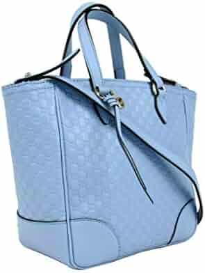6a4709904bb99d Gucci Women's Light Blue Guccissima Leather Small Crossbody Bag 449241 4503