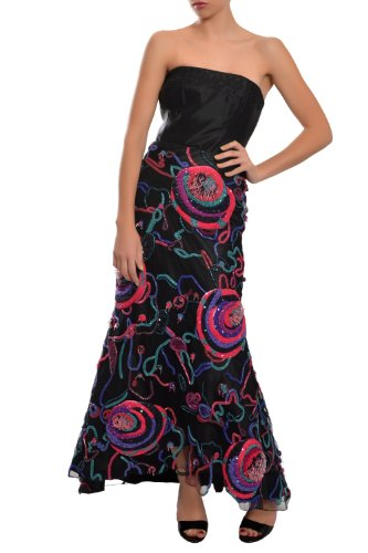 Giorgio Armani Sequin Embellished Tulle Long Formal Evening Skirt
