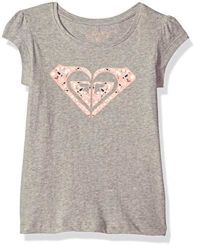 Roxy Girls' Toddler Moid Short Sleeve T-Shirt, Heritage Heather, 3 ()