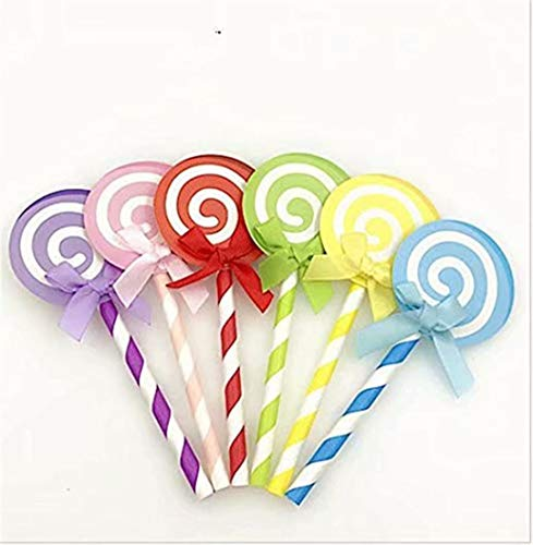 LOSOUL 6PCS/Set Cake Decoration Kids Birthday Party Cupcake Toppers Decorations Lollipop Cake Muffin Toppers, Baby Dhower Christmas Favors Supplies