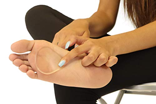 Premium Gel Ball of Foot Cushions - Reusable Clear Gel Metatarsal Pads - Foot Pain Relief - 1/8 Inch - 2 Pair