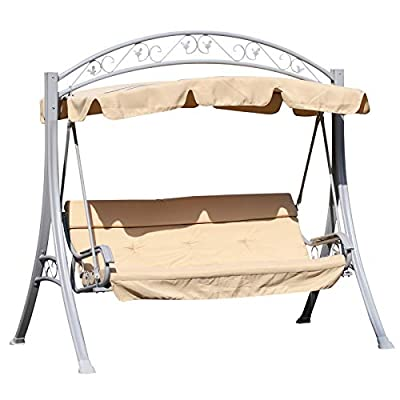 Outsunny Garden 3 seat Swing with Canopy