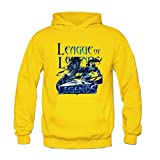 XCOSER Teenager 2015 LOL Cosplay Hoodie Zhao Yun Sweater Pullover Outwear Yellow XL
