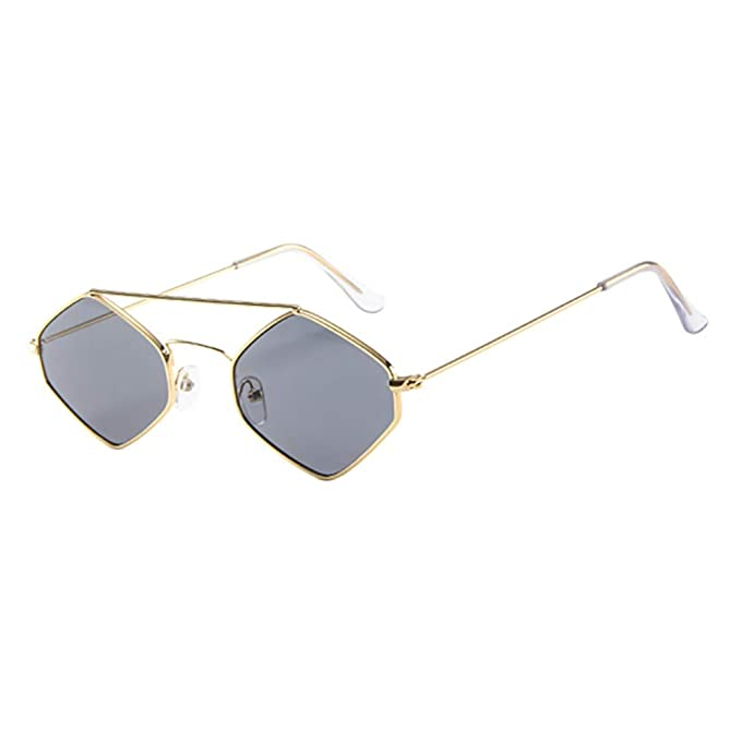 86e03a8e782a WooCo Women Men Glasses Unisex Rhombus Frame Vintage Retro Style Sunglasses  Trendy Eyeglasses Eyewear Spectacles(A,One Size): Amazon.co.uk: Clothing