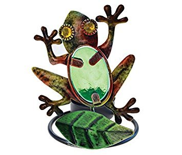 Puzzled Decorative Tea Light Candle Holder - Frog