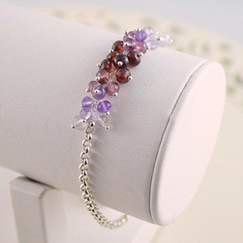Bracelet Rhodolite Amethyst (Gemstone Bracelet in Sterling Silver)