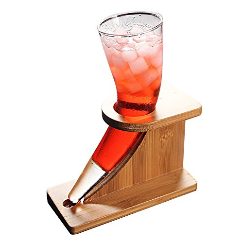AMCER Lead-Free Crystal Glass Beer Mug 440ml Creative Ox Horn Shape Cup for Juice, Cocktails, Drinks and More]()
